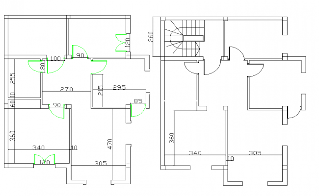 Simple line house lay-out plan