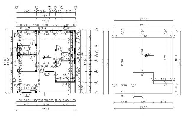 Simple House Plan With Terrace Floor Design DWG Drawing