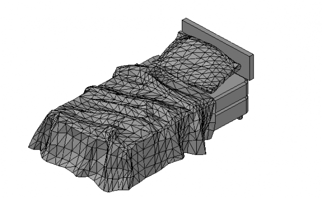 Single Bed 3d front elevation file