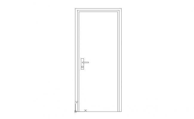 Single Door Elevation Design AutoCAD Blocks Free Download