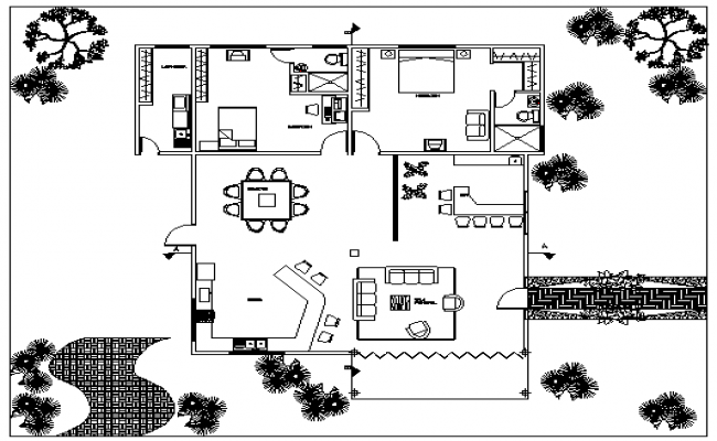 Single Family House Design ad Structure Details dwg file