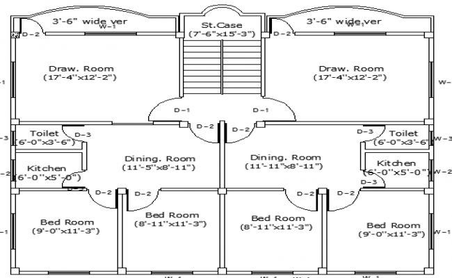 Single Family House Design and Structure Details dwg file