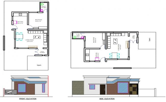 Single Family House Plan DWG File