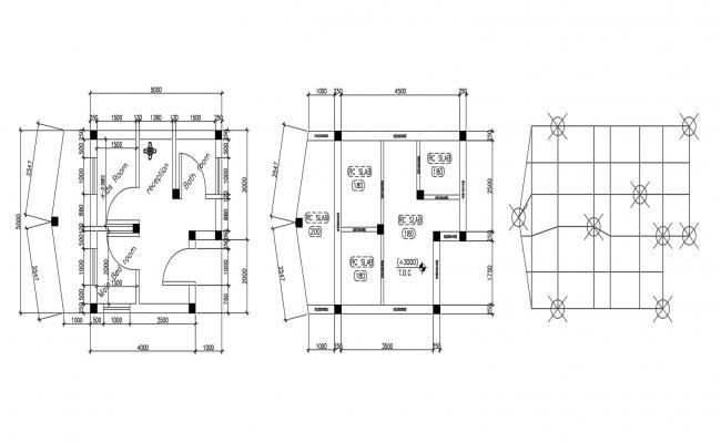 Single Floor House Design CAD File Free Download