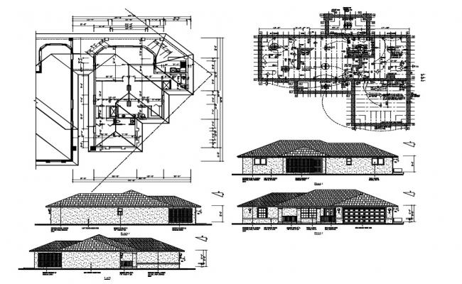 Single Floor House Design DWG Fille