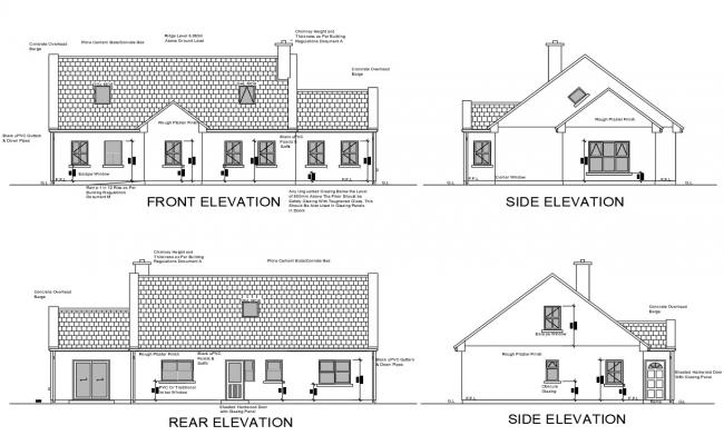 Single Floor House Elevation Models