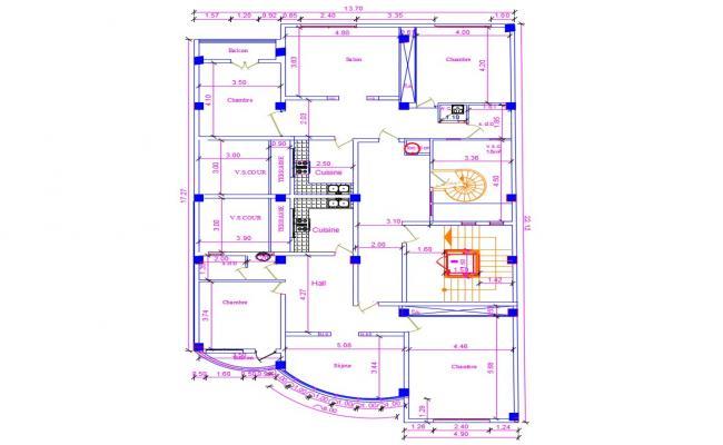 Single Storey CAD House Plan