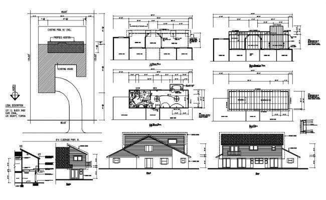 Single Storey House Plan DWG File