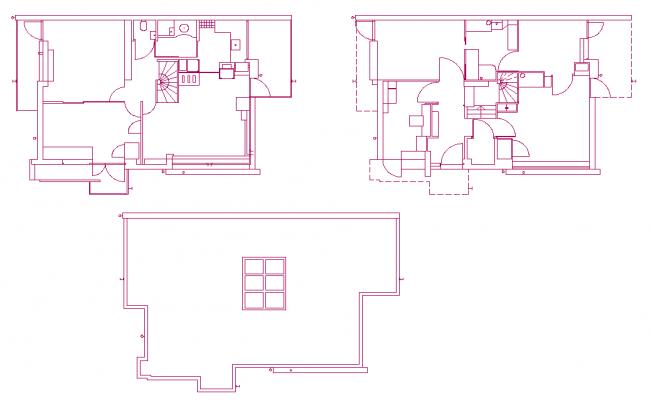 Single family home plan dwg file