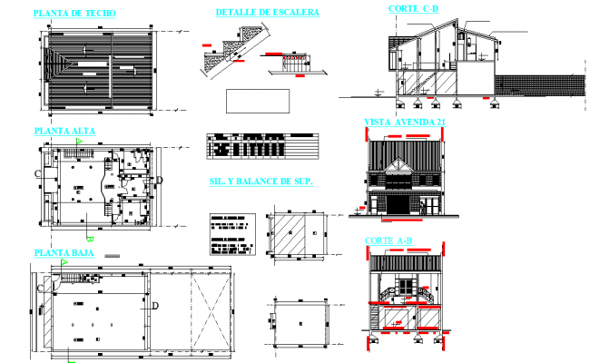 Single family home plan layout file