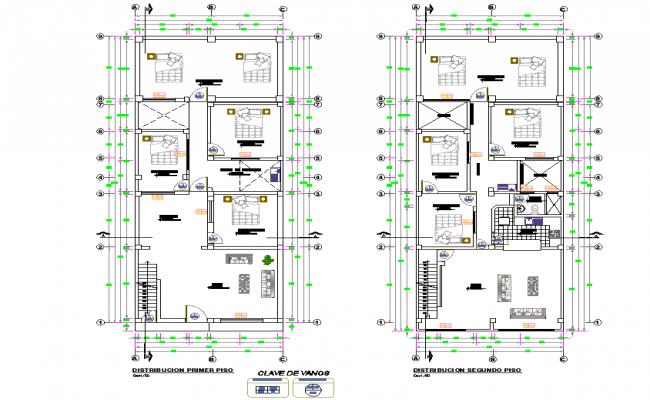 Single family house 3 floors detail autocad file