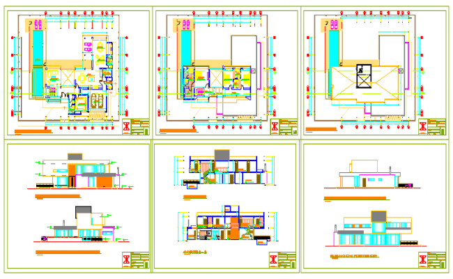 Single family house design drawing