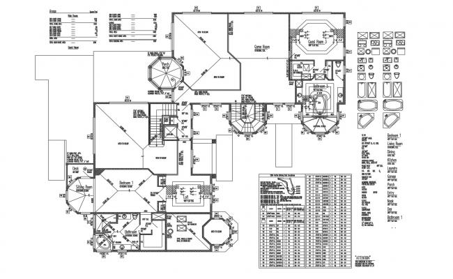 Family Home Plan In DWG File
