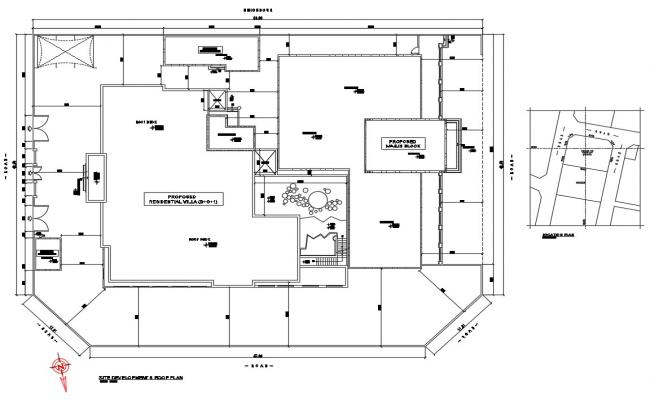 Single family house framing and layout plan details dwg file
