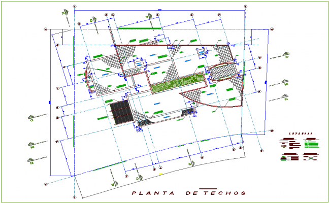 Single family house of ceiling plan dwg file