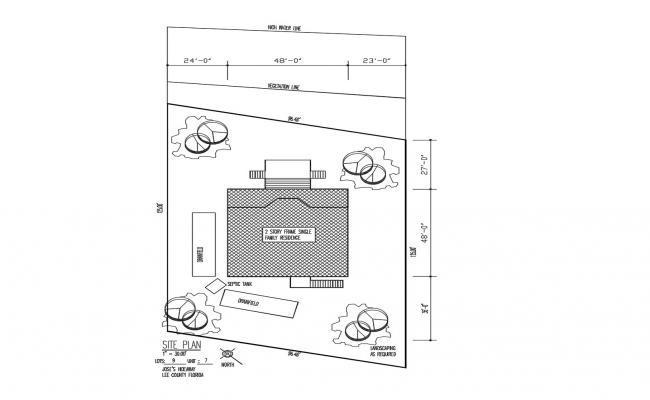 Single Family House Plan In DWG File