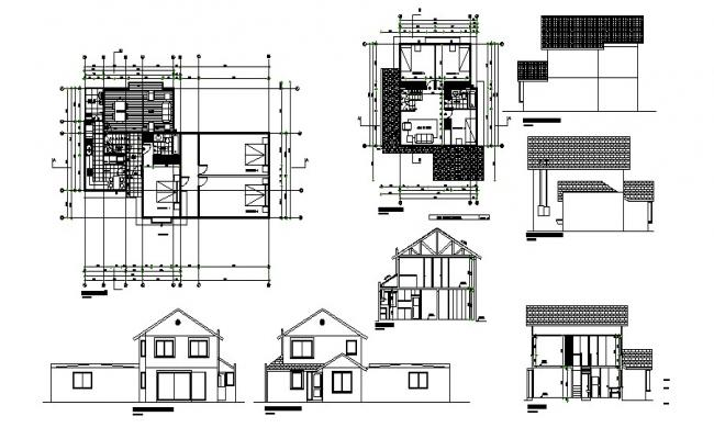 Single Family House In DWG File