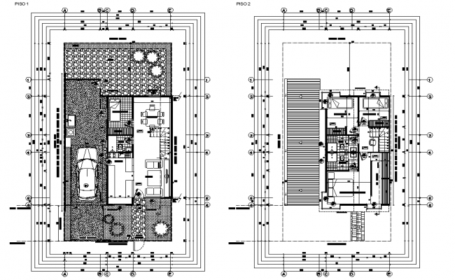 Single family house working plan autocad file
