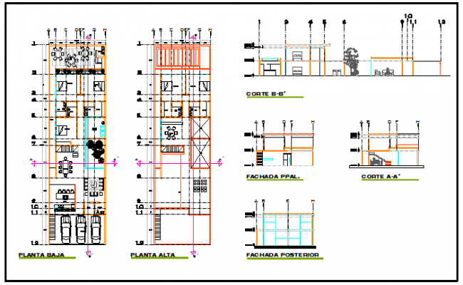 Single family residential house design drawing
