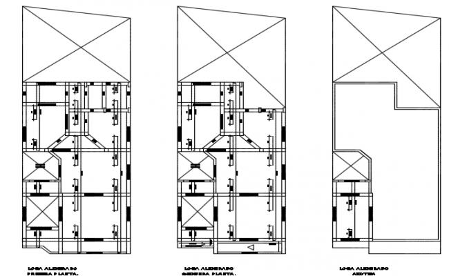Single house plan detail dwg file