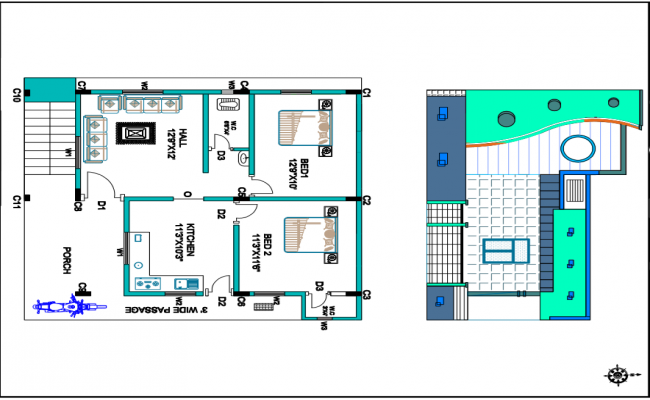 Single storey residential building plan