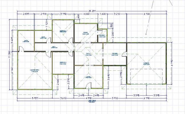 Single story floor plan 3