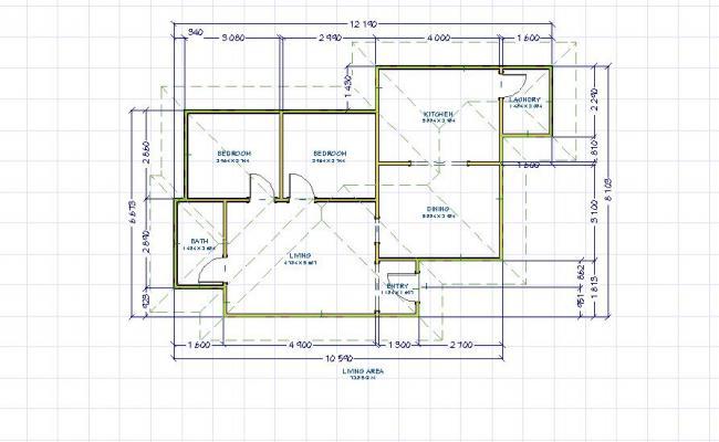 Single story floor plan 5