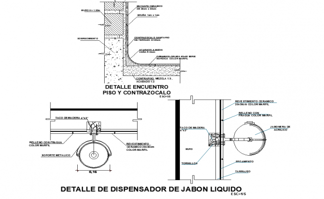 Sink section detail