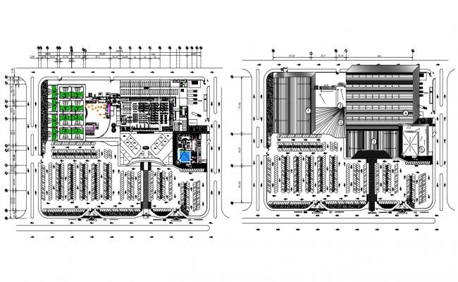 Site Area AutoCAD Drawing samples download