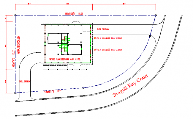 Site Plan Lay-out detail in DWG file
