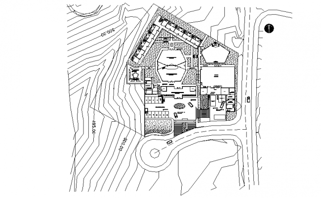 Site commercial plan detail dwg file