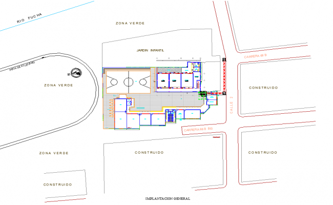Site location Projector substation electrical dwg file