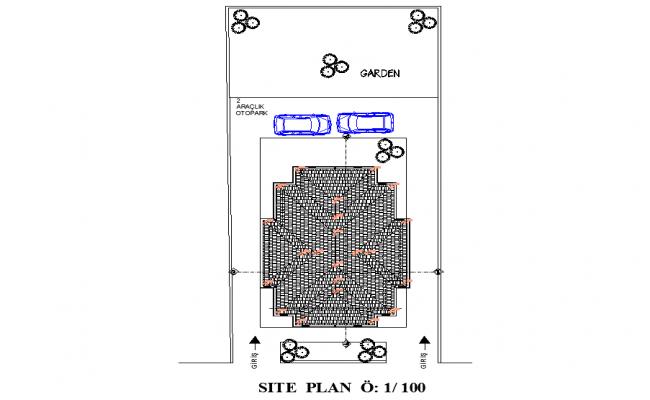 Site location plan autocad file