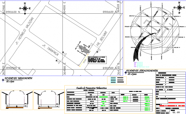 Site location plan detail dwg file