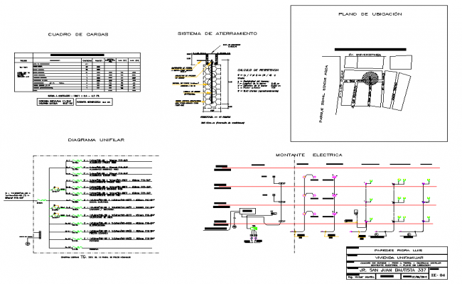 Site plan and circuit plan autocad file