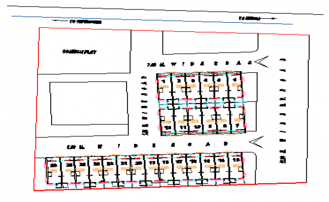 Site plan design drawing single family residential house
