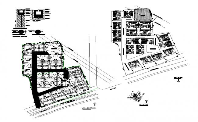Site plan detail 2d view layout file