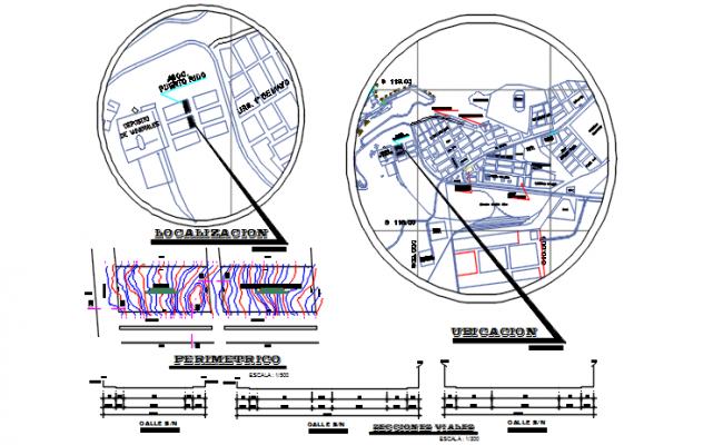 Site plan detail dwg file