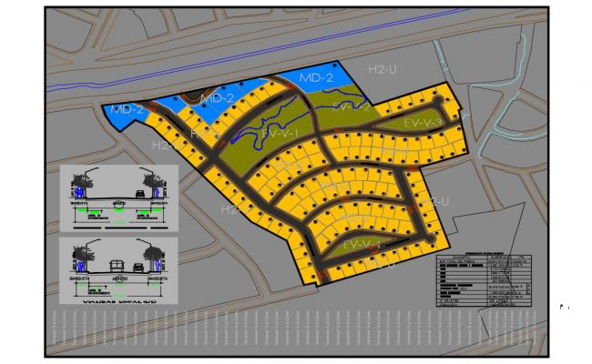 Site plan details of colomos government building dwg file