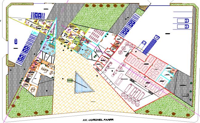 Site plan details of dairy plant design dwg file