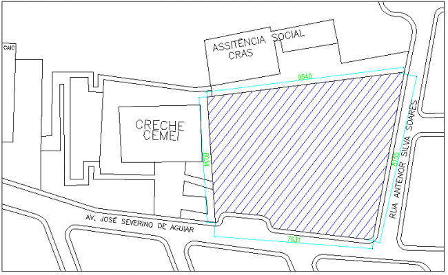 Site plan details of multi-flooring college dwg file