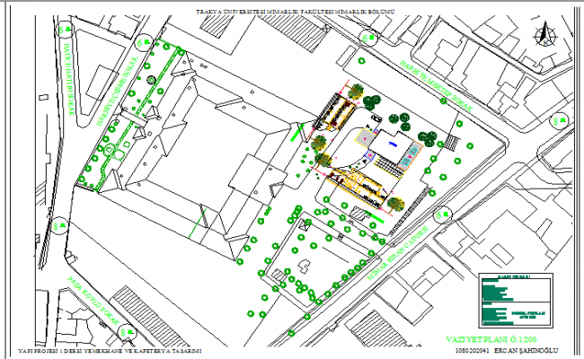 Site plan details of multi-flooring restaurant project dwg file