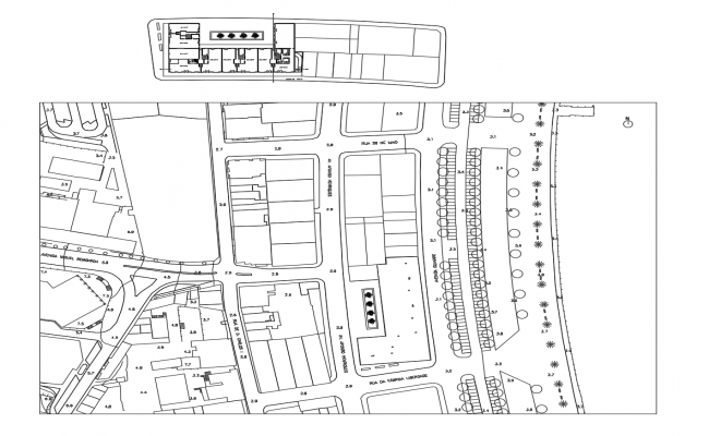 Site plan in autocad
