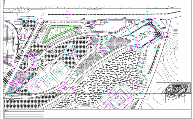 Site plan layout detail view dwg file
