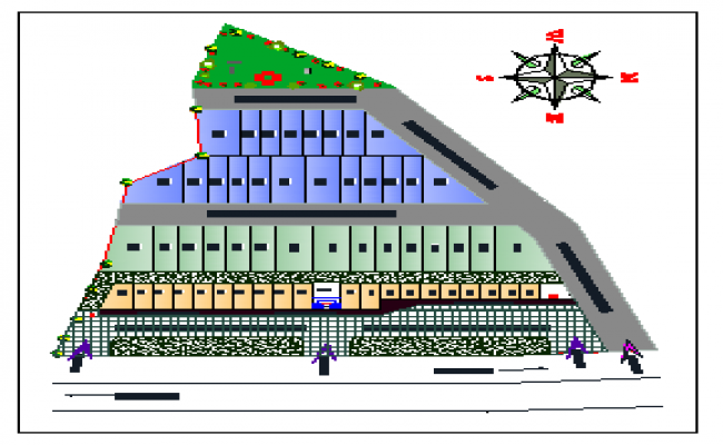 Site plan layout of raw house design drawing