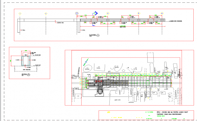 Site plan layout view detail and Structure view detail dwg file