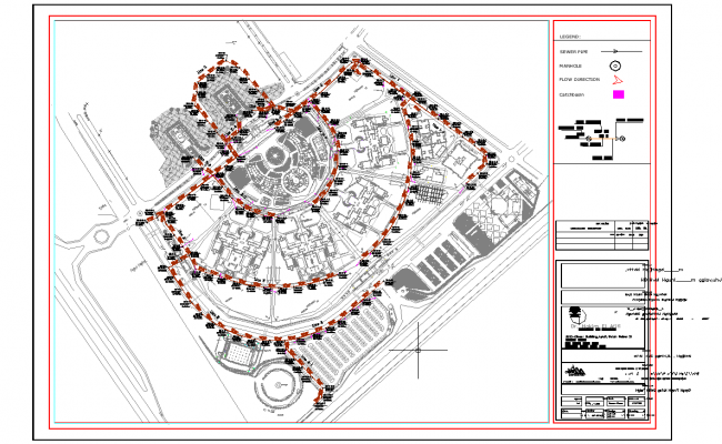Site plan layout view detail dwg file