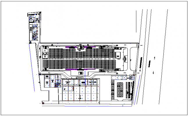 Site plan lighting and power layout of clothing and jeans dwg file
