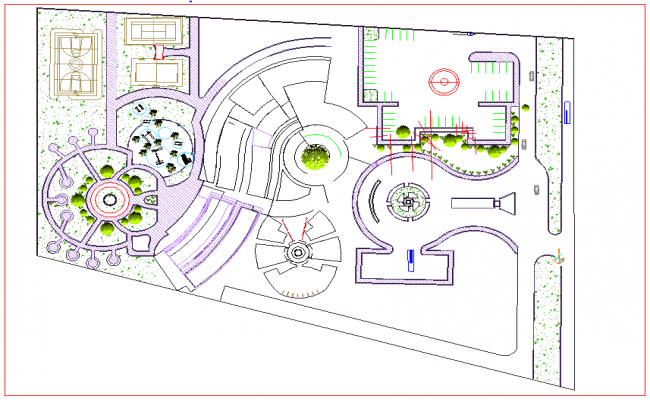 Site plan of hotel