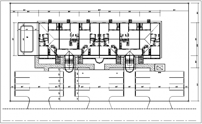 Site plan of house dwg file